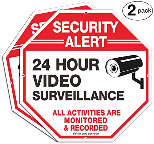 (Video Surveillance Signs (2 Pack), 12