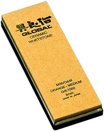 Global - Piedra de afilar (cerámica, 5 mm), color naranja