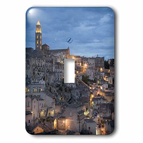 3dRose lsp_82105_1 Duomo (Cathedral), Sassi, Matera, Basilicata, Italy Eu16 Dbn0167 David Barnes Single Toggle - 1 Light Duomo