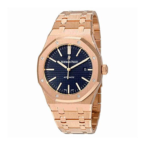 Audemars Piguet Royal Oak Automatic Blue Dial 18kt Pink Gold Mens Watch 15400OROO1220OR03