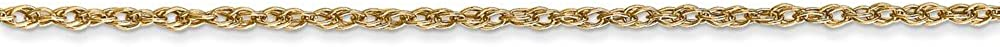 Mia Diamonds 18k Yellow Gold Leslies 1.3mm Heavy-Baby Rope Chain Necklace