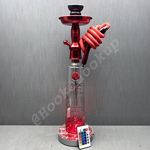 (Ciroc Vodka 1L Bottle Hookah Red Berry with LED Stand)