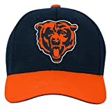 NFL Youth Boys Tech Structured Snapback Hat-Deep Obsidian -1 Size, Chicago Bears