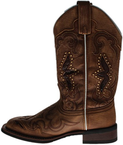 Laredo Women's Spellbound Western Boot Square Toe Tan 9 M by Laredo (Image #3)