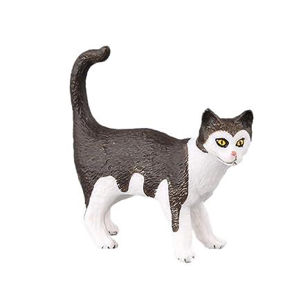 Vivianu - Juego de 10 figuras de acción realistas, diseño de gato, para decoración
