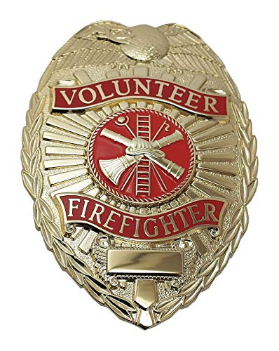 Metal Metal Badge, Fire-Rescue Industry Type, Badge Patch Type, Gold Color]()
