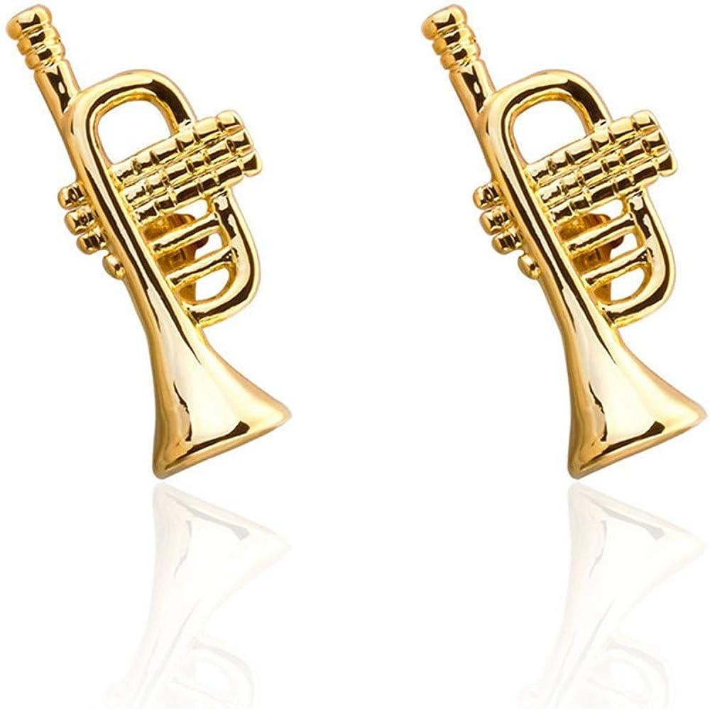 YYXXX Gemelos Gemelos para Hombres Marco Cuerno de música Francesa Oro Suona Classic: Amazon.es: Joyería