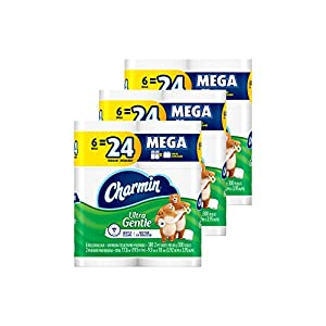 Ratings and reviews for Charmin Ultra Gentle Toilet Paper 6 Mega Rolls (Pack of 3)
