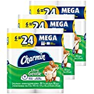 Charmin Ultra Gentle Toilet Paper, 18 Mega Rolls (Packaging May Vary)