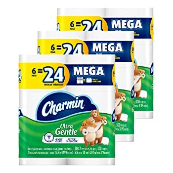 Charmin Ultra Gentle Toilet Paper, 6 Mega Rolls (Pack of 3)