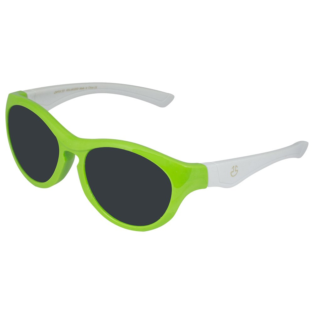 6758c5bb6541 Kids Flexible Rubber Sunglasses for Boys and Girls - Green and White  Bendable and Unbreakable Round Frame with 100% UV Protection and Polarized  Lenses - By ...