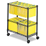 SAF5278BL - Safco 2-Tier Rolling File Cart