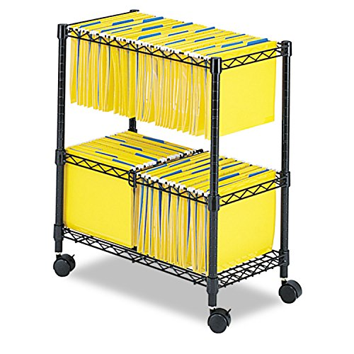 SAF5278BL - Safco 2-Tier Rolling File Cart by Safco