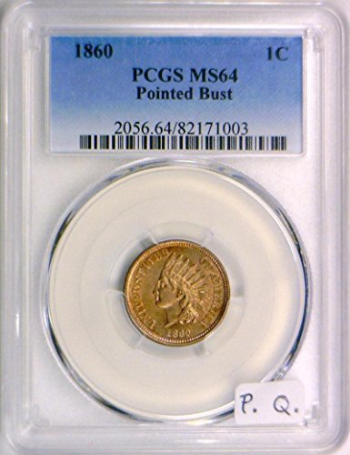 1860 No Mintmark Indian Head Cent MS-64 PCGS
