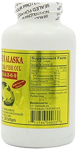 Golden Alaska Deep Sea Omega-3-6-9 Fish Oil 1000mg 300 Softg