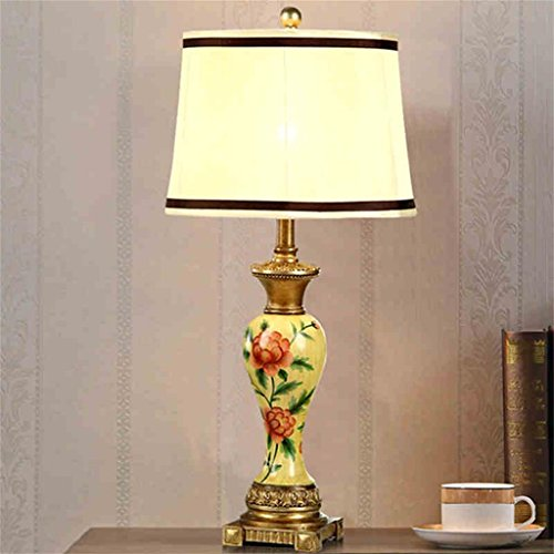 Royal Peony - Royal-Chinese hand-painted table lamp Peony pastoral Lamp European Retro Bedroom bedside lamp