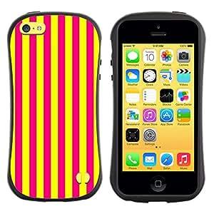 Suave TPU GEL Carcasa Funda Silicona Blando Estuche Caso de protección (para) Apple Iphone 5C / CECELL Phone case / / Vertical Lines Bright Yellow Purple /