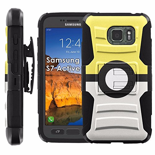 Click to buy Samsung Galaxy [S7 Active] Armor Case [Mobiflare] [Black/Black] Armor Phone Case [Screen Protector INCLUDED] - [Pokeball Yellow] - From only $15.95