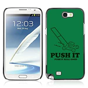 Designer Depo Hard Protection Case for Samsung Galaxy Note 2 N7100 / Push It Real Good Lawnmower