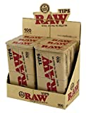 RAW Natural Unrefined 100 Tip Pre-rolled Tin - (6)