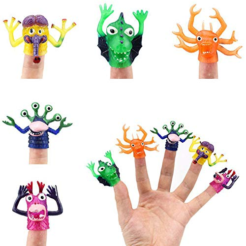 Meiyiu Monster Finger Puppets Set for Story Telling Props Party Favors,5Pcs/Set