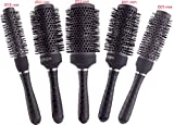Round Thermal Brush Set, Professional Nano Ceramic & Ionic Barrel Hair Styling Blow Drying Curling Brush, 5 Different Sizes For Sale