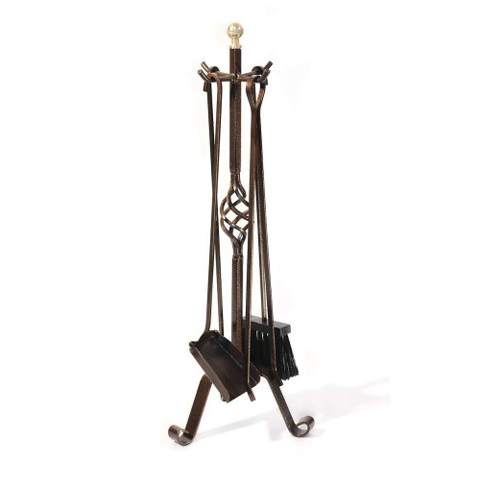 Divian Fire Set 4 attrezzi accessori per camino 25xh70cm ferro battuto DF53568