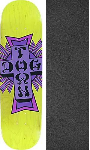 Dogtown Skateboards Street Cross Yellow/Purple Skateboard Deck - 8.25