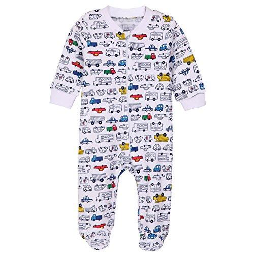 HONGLIN Baby Boys and Girls Printed Pajamas Long Sleeve Infant Baby Cotton Cartoon Footies Sleepwear 3-24 Months