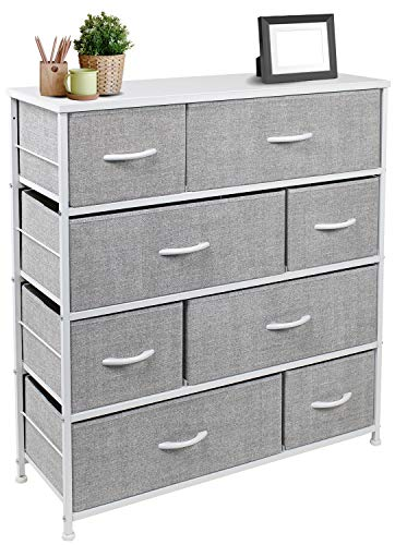 Sorbus Dresser with 8 Drawers – Furniture Storage Chest Tower Unit for Bedroom, Hallway, Closet, Office Organization…
