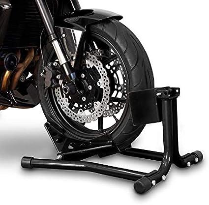 Constands Easy Classic Motorradwippe Motorradklemme Radhalter Radklemme Wippe Hinterrad Für Anhänger Transportständer Montageständer Vorderrad Schwarz Auto