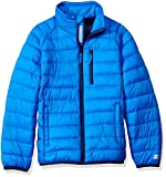 Starter Boys' Packable Puffer Jacket, Amazon Exclusive, Champion Blue, XS