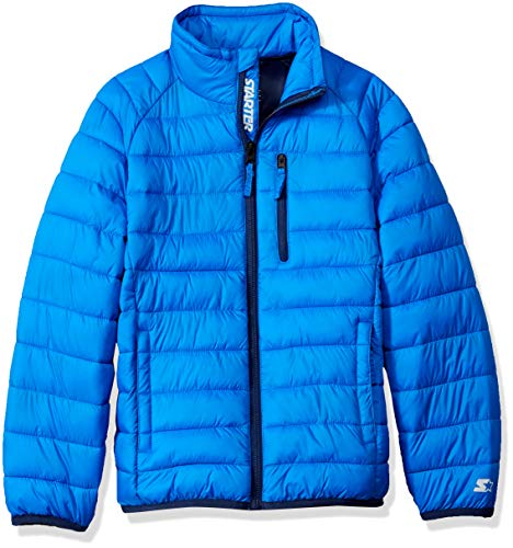 Starter Boys' Packable Puffer Jacket, Amazon Exclusive, Champion Blue, L