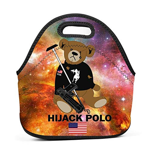 HIJACK Polo Bear Funny Insulated Lunch Bag Neoprene Tote Lun