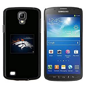 Qstar Arte & diseño plástico duro Fundas Cover Cubre Hard Case Cover para Samsung Galaxy S4 Active i9295 (Denver Bronco NFL)