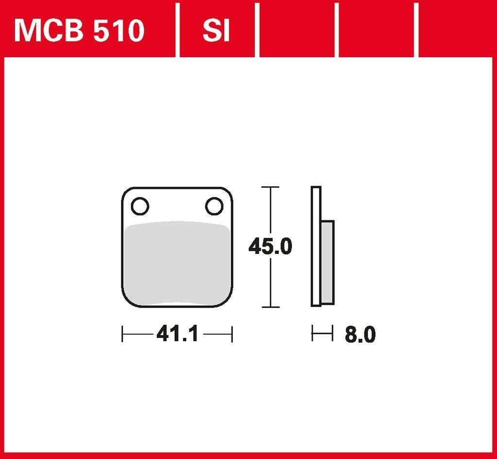 Bremsbelag TRW organischer Allround-Bremsbelag Seventy Five 125 15-16 hinten