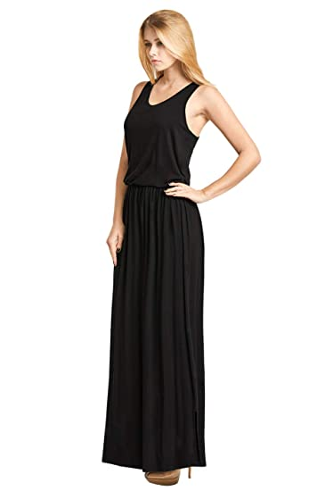 Women S Classic Bloused Bodice Maxi Dress At Amazon Women S Clothing