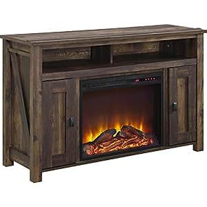 """Altra Furniture Farmington 50"""" Media Heritage Pine Fireplace"""