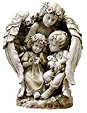 "16"" Joseph's Studio Angel with Children Outdoor Garden Statue"