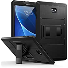 """MoKo Samsung Galaxy Tab A 10.1 Case - [Heavy Duty] Full Body Rugged Cover with Built-in Screen Protector for Samsung Galaxy Tab A 10.1"""" 2016 Tablet (SM-T580 / SM-T585, No Pen Version), BLACK"""