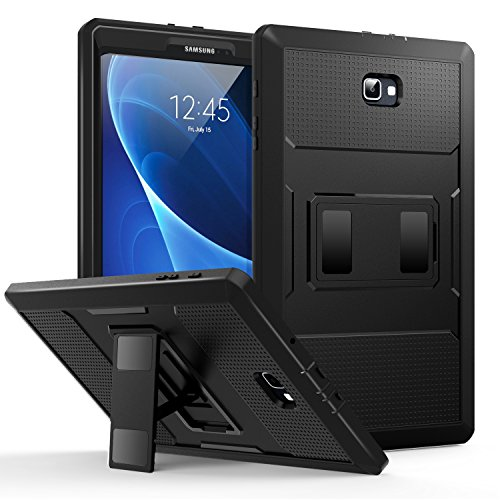 MoKo Samsung Galaxy Tab A 10.1 Case - [Heavy Duty] Full Body Rugged Cover with Built-in Screen Protector for Samsung Galaxy Tab A 10.1 2016 Tablet (Sm-T580/ Sm-T585, No Pen Version), Black