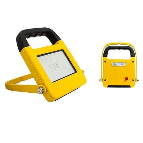 Proyector LED 10W con batería recargable apto exteriores IP44 de ...