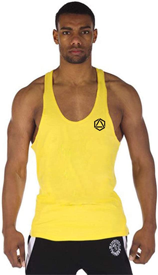 COWBI Herren Fitness Muskel Gym Drucken Hipster Weste Bodybuilding Lift Stringer Tank Top