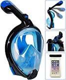Foldable Snorkel Mask Version 3.0, Bestlus Snorkeling Mask 180° Panoramic View Full Face