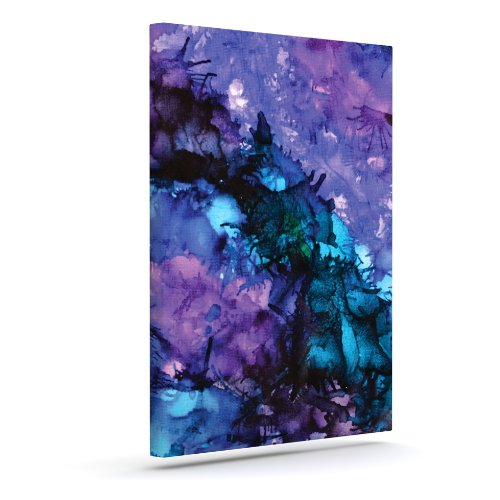 Purple Abstract Canvas Art