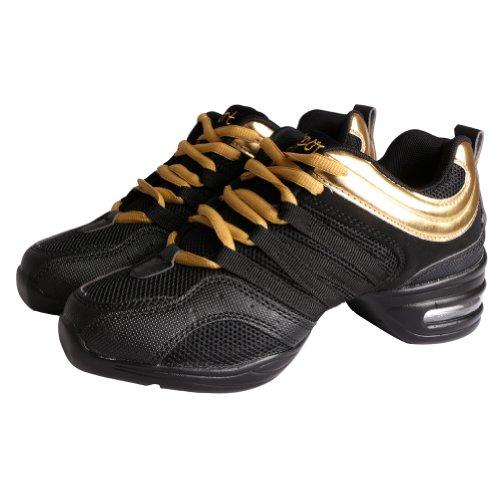 Tango Jazz de Hip Zapatos Deportivos Free oro Baile Mujer para Zapatos Danza de Hop Fisher negro F4caHqA