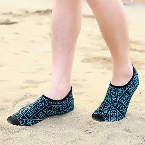 SUO Quick Exercise Men For Surf Water Toddler Yoga and Women Beach Socks Dry Z Swim Green Shoes Aqua Kids Lightweight pfUnqpd