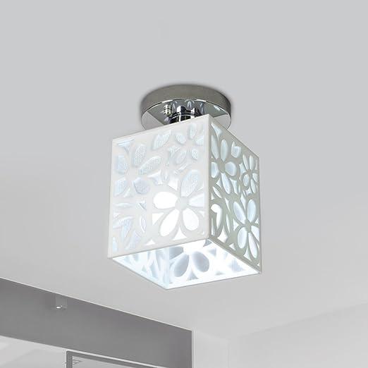 DFMD Lámparas de Techo de Hierro, Nordic LED Blanco Acrílico ...
