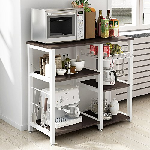 Soges 3-Tier Kitchen Baker's Rack Utility Microwave Oven Stand Storage Cart Workstation Shelf W5s-B
