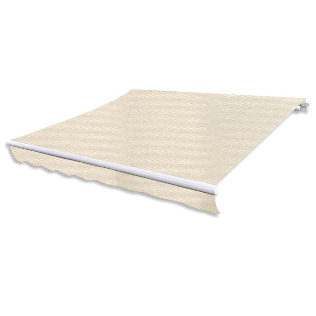 vidaXL Folding Awning 10' Cream by vidaXL